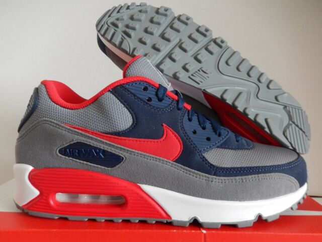 premium selection 04f3c f8b17 NIKE AIR MAX 90 ID GREY-NAVY BLUE-RED-WHITE SZ 9