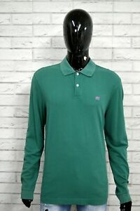 Polo-Uomo-HENRY-COTTON-039-S-Taglia-XXL-Maglia-Manica-Lunga-Shirt-Man-Herrenhemd