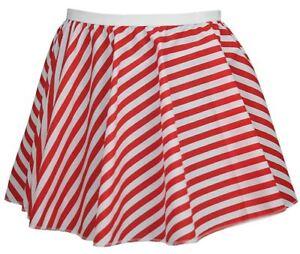 Childs-Red-amp-White-Full-Circle-15-034-Candy-Cane-X-Mas-Skater-Skirt