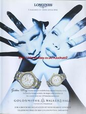Longines Golden Wing Watch 1997 Magazine Advert #4132