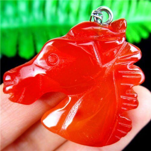 Piedra De Cristal Gema Ágata diversos mezclar y combinar Caballo Cabeza Colgante 39*36*9mm HH6345