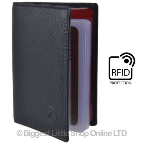 Nouveau femme homme en cuir titulaire de carte de crédit protection rfid par mala qualité