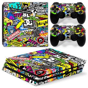 Playstation-4-PS4-Pro-Skin-Vinyl-Design-Folie-Aufkleber-Schutz-Sticker-HOONIGAN