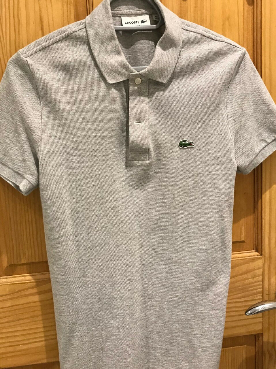 Lacoste mens polo, grey, xs, slim fit