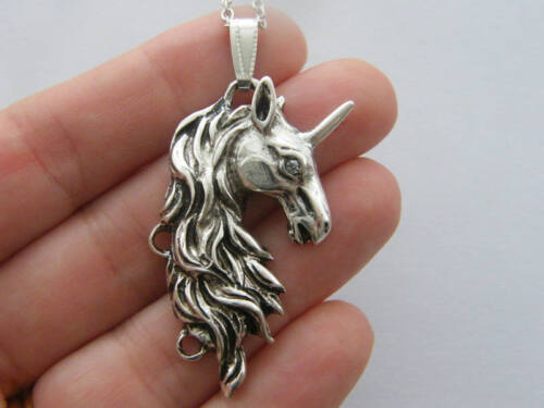 1 Unicorn Pendentif Antique Ton Argent A729