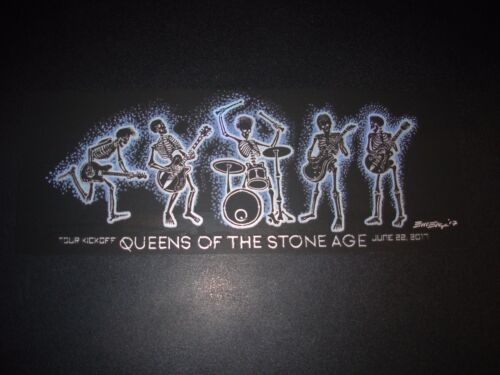 QUEENS OF THE STONE AGE Handbill Print 2017 Tour Kickoff FOIL poster art EMEK
