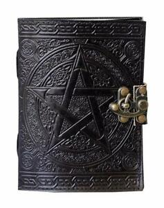 Large-Handmade-Leather-Journal-Pagan-Wicca-Book-of-Shadows-Paganism-7-X-10