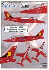 Syhart Decals 1/48 ALPHA JET SOLO DISPLAY 2001-2003 Belgian Air Force