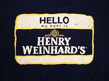Hello My Beer Is Henry Weinhard's Made Easy College Party T Shirt XL
