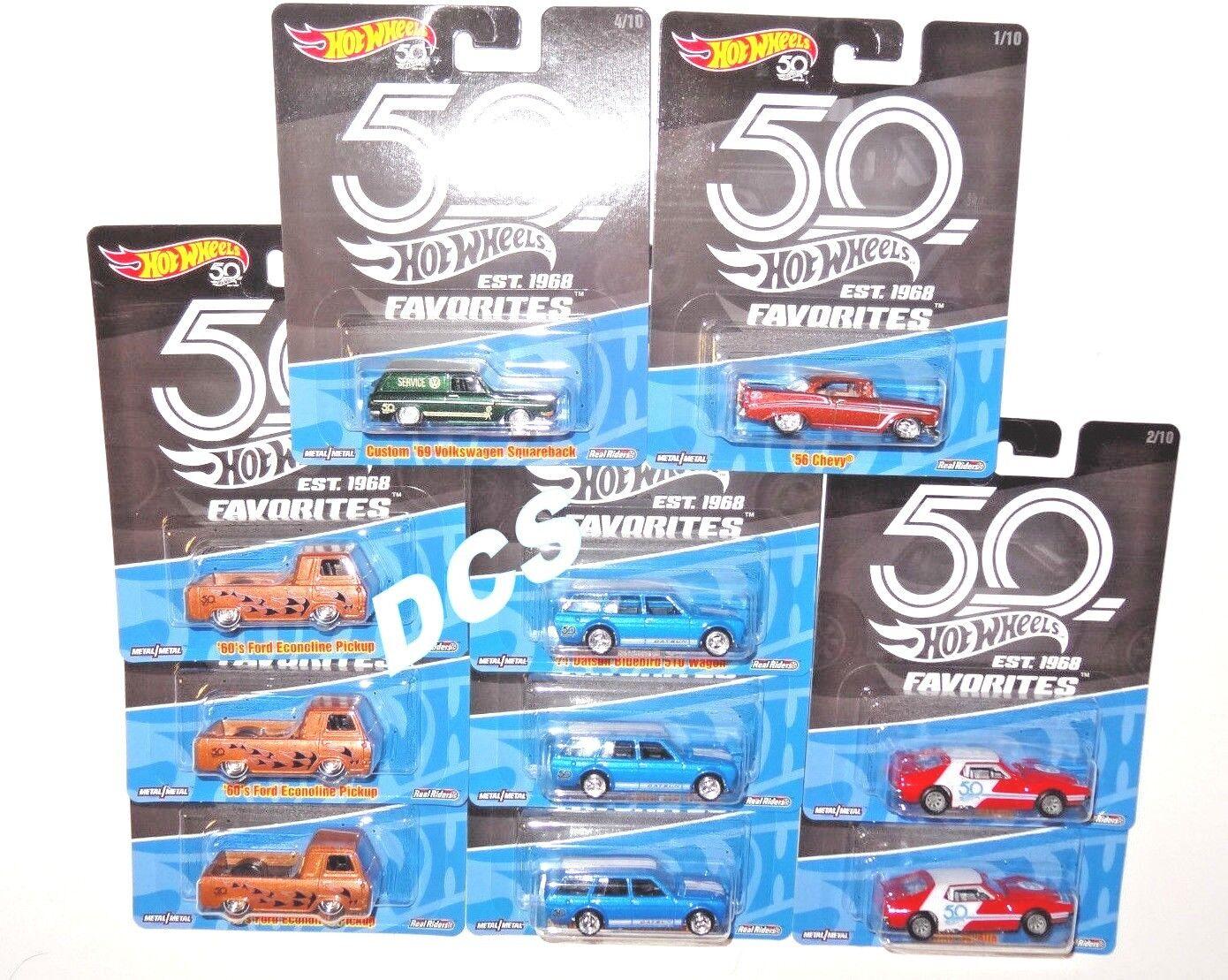Hot Wheels 2018 50th aniversario favoritos de un caso de coche 10 FLF35-956A En Stock