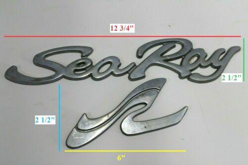 1986-1993 Sea Ray Sundancer Express Laguna 21 22 23 24 Chrome Logo Emblem