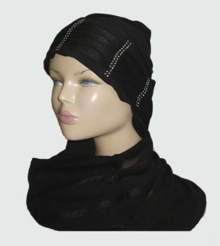 Beaded hat and Shawl Hijab Head wear cover scarf Islamic dress  RRP £7.50