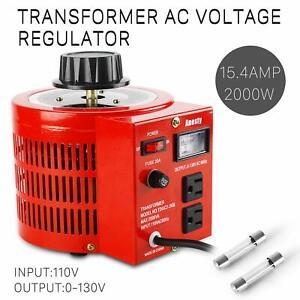 Variac-Autotransformer-Variable-AC-Voltage-Regulator-Metered-2000w-20Amp-110V