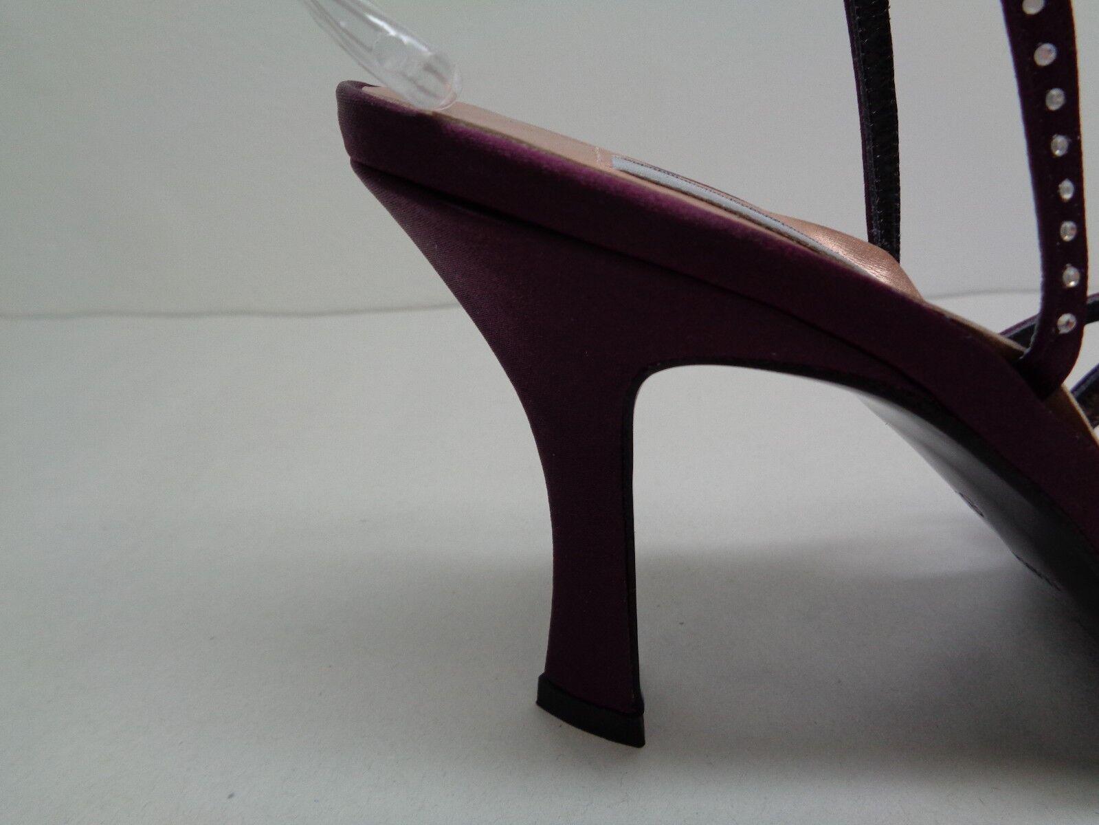 Shaw Größe 8.5 M L2869180 Purple Purple L2869180 Satin Jewel Heels Sandales New Damenschuhe Schuhes aec877