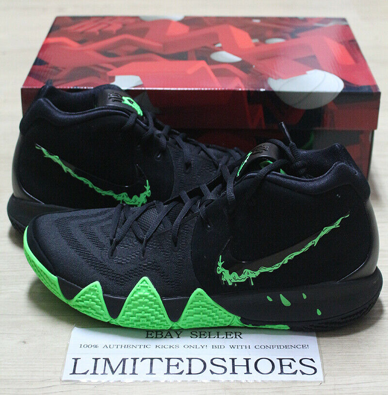 NIKE KYRIE 4  HALLOWEEN  BLACK RAGE GREEN 943806-012 bhm all star duke confetti
