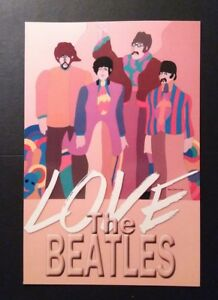 2014 Cartolina Love The Beatles - tiratura 250 copie - Italia - 2014 Cartolina Love The Beatles - tiratura 250 copie - Italia