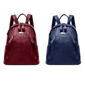 Women-Backpack-PU-Leather-Solid-Zipper-Shoulder-School-Rucksack-Lady-Travel-Bags