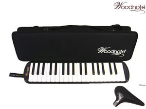 Woodnote-MLK-37BK-Beautiful-Black-37-Key-Melodica-12-Holes-Alto-C-Ocarina