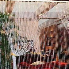 String Door Curtain Beads Room Divider Window Panel Tassel Crystal Beaded Modern