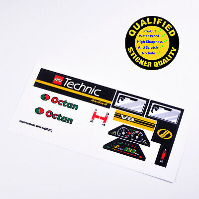 for models,Lego,etc LEGO 8880 Super Car CUSTOMIZED STICKERS Pre-cut Very nice
