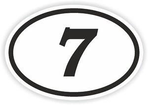 7-SEVEN-Septiembre-N-Pegatina-Ovalada-Parachoques-Coche-MOTOCROSS-MOTO