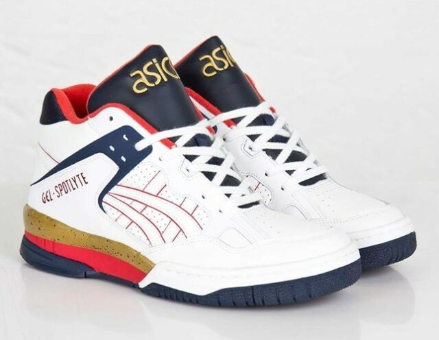 NEW Asics Gel Spotlyte mens retro basketball shoe Isiah Thomas white H447L 0101