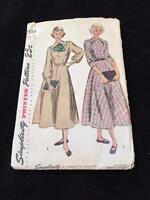 Simplicity 1948 Uncut Sewing Pattern 2584 Sz 15 Bust 33 Classic Dress Full Skirt
