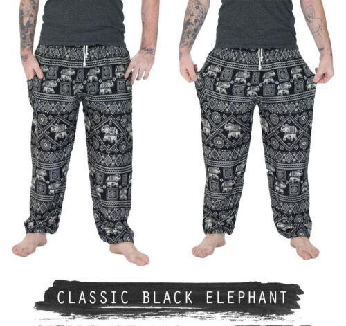 Mens Thai Yoga Pants Baggy Harem Trousers Elephant Unisex Drawstring Hippy