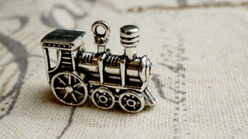 Tren de estilo vintage de plata 2 encantos Jewellery Supplies C312