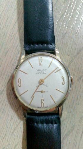 Davar De Luxe – vintage men's wristwatch – 1960s.