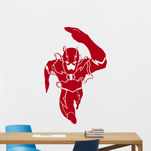 Wall Decal Flash Superhero Comics Kids Nursery Vinyl Sticker - Superhero vinyl wall decals