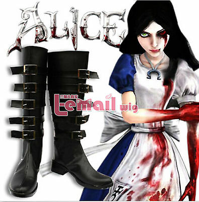 Alice: Madness Returns Default Cosplay Boots Shoes Halloween party