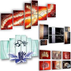 Quadri a scelta dipinti a mano 6 pezzi astratti design for Quadri moderni astratti dipinti a mano
