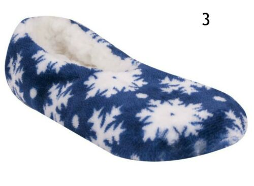 Girls Ballerina Warm Christmas Soft Light Winter Slippers Snowflake Size7-2child