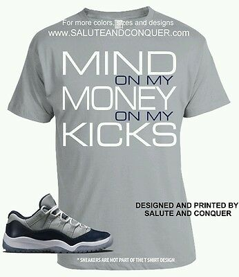 JORDAN 11 LEGEND and PANTONE Matching t shirt size SMALL  by SALUTE AND CONQUER