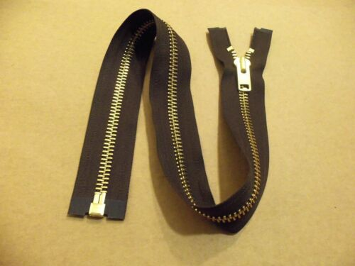 "#10 YKK Heavy Duty Brass Separating Jacket Zipper 24/"" Black Or Brown"