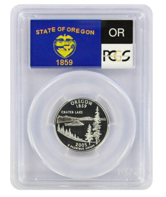 2005-S Flag Silver Oregon OR State Quarter PR69DCAM PCGS Proof 69 Deep Cameo