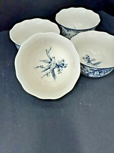 222-Fifth-ADELAIDE-BLUE-amp-WHITE-Soup-Cereal-Bowls-5-5-8-034-EUC