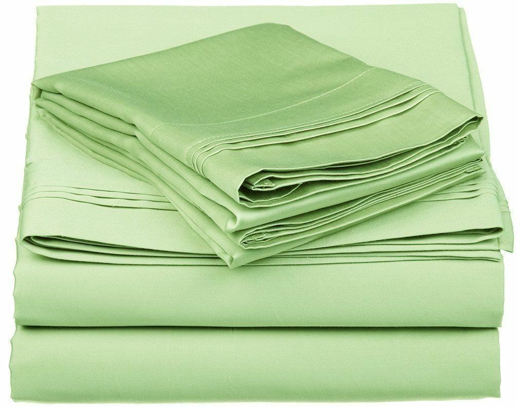 Bed Sheet Set Sage Grün Solid RV Camper & BUNK Bed All Größes 1000 Thread Count