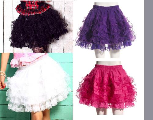 RQ-BL Rock Maleficent Petticoat Punk Gothic Lolita Tulle Skirt Tutu 21020 Mini