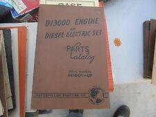 Caterpillar VINTAGE Parts Book/Catalog D13000 Engine & Diesel Electric Set