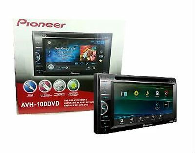"Pioneer AVH-100DVD Double Din DVD CD Receiver 6.1"" Video Display New AVH100DVD"