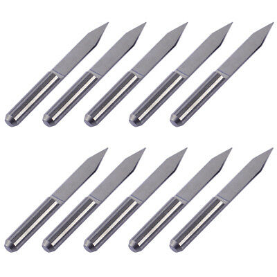10pcs V-Shape Engraving Bit PCB CNC Router Tool Tungsten Steel 30 Degree 0.2mm