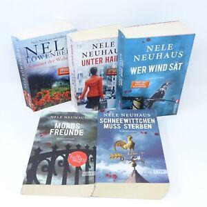 NELE-NEUHAUS-Schneewittchen-Mordsfreunde-Wer-Wind-saet-Unter-Haien-Sommer-5x-Buch