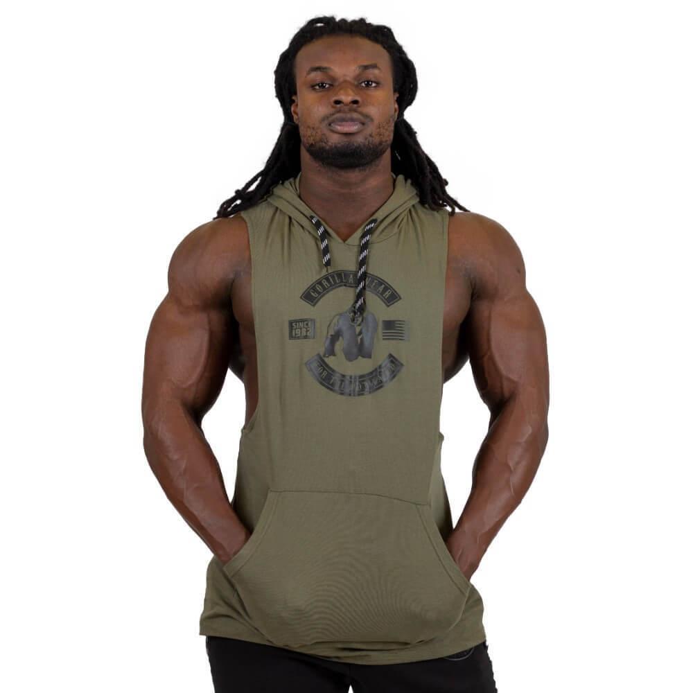 Gorilla Wear Lawrence Hooded Tank Top Army Green
