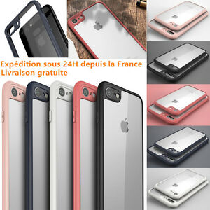 iPhone-8-7-Plus-6-6S-Plus-SE-5S-X-COQUE-APPLE-HOUSSE-ANTICHOCS-CLAIR-BUMPER-CASE
