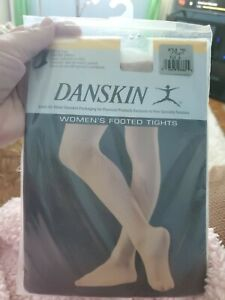 Danskin Womens Ultra Shimmery Footed Tights 1331