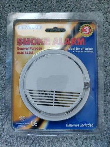 Smoke Alarm With LED Indicator 85dB 9V Battery Included STATUS BRAND