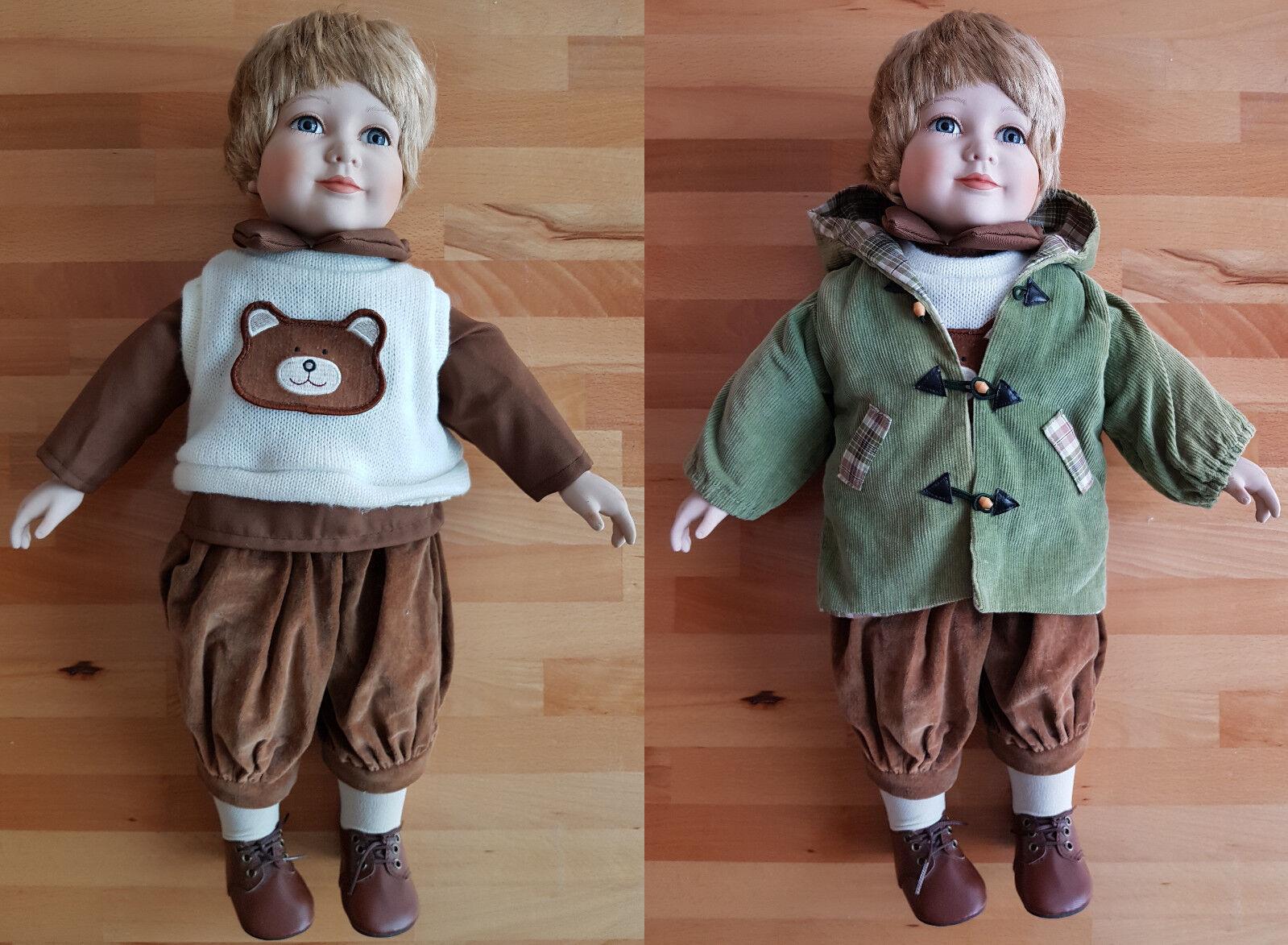 55 cm Porzellan Puppe Püppchen Figur Doll Zasan EN-1994 Limited Edition 876 1000