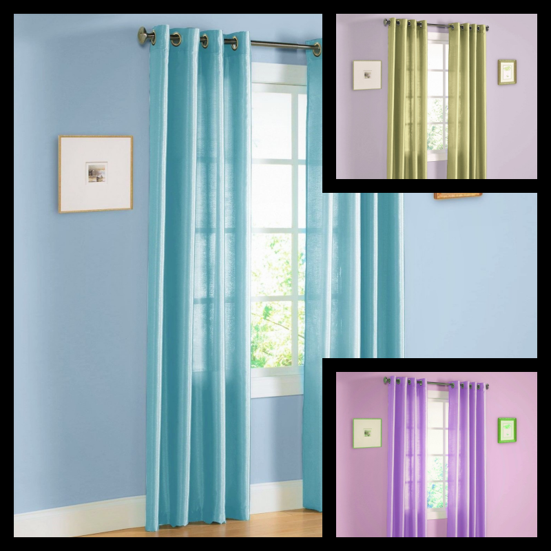 ONE PANEL MIRA TURQUOISE  WINDOW CURTAIN FAUX SILK METAL GROMMET DRAPES